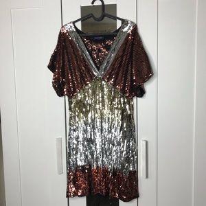 Boston Proper Sequins Dress Size 10